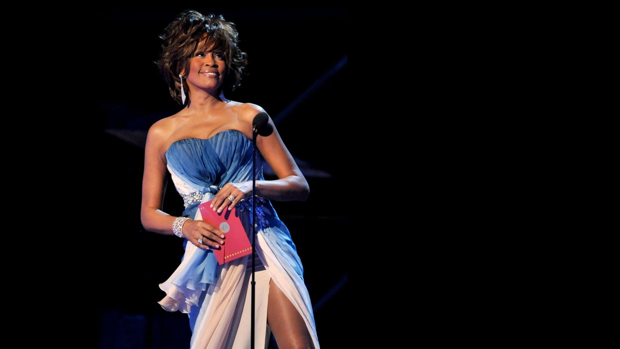 WHITNEY HOUSTON r-b soul pop microphone concert concerts  v wallpaper