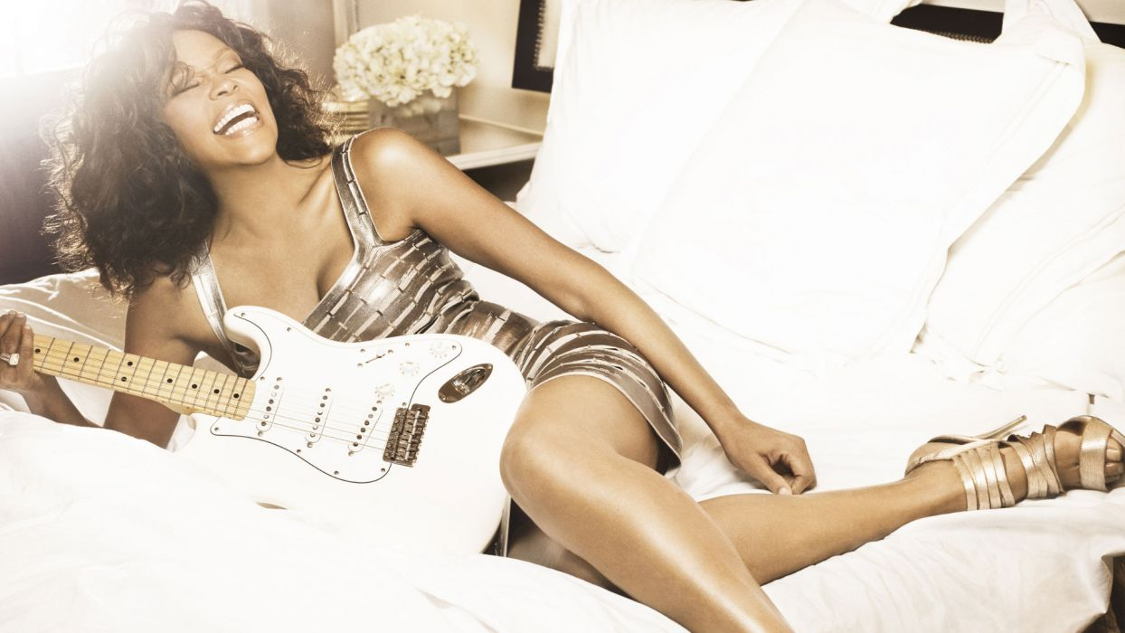 WHITNEY HOUSTON r-b soul pop guitar guitars wallpaper