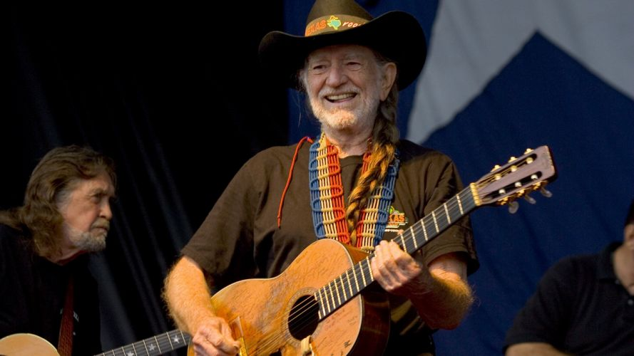 WILLIE NELSON country concert guitar wallpaper