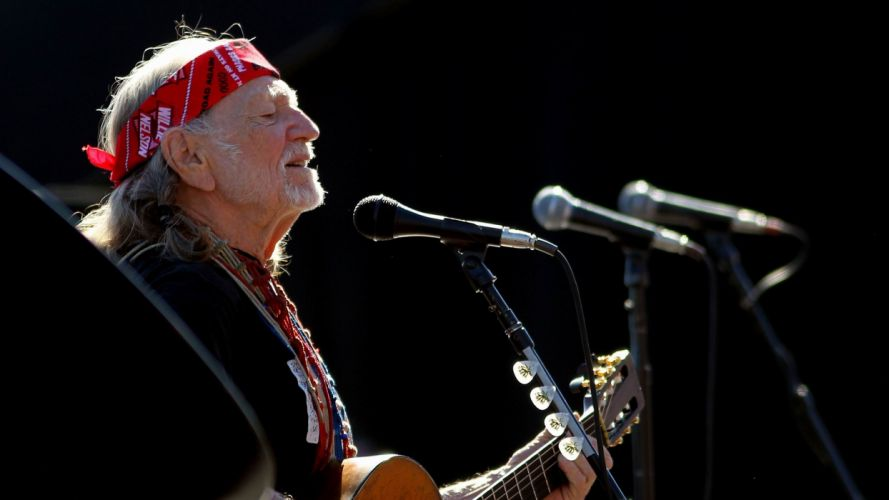 WILLIE NELSON country microphone concert guitar wallpaper