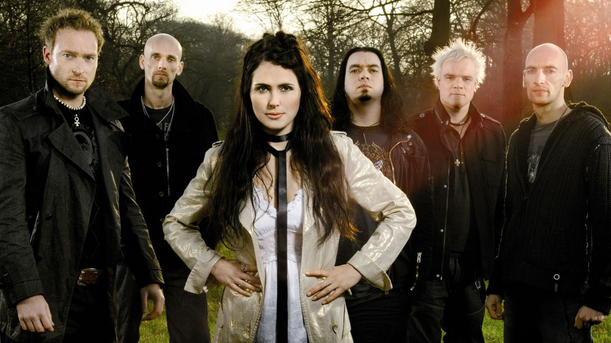 WITHIN TEMPTATION gothic metal symphonic sharon heavy adel  z wallpaper