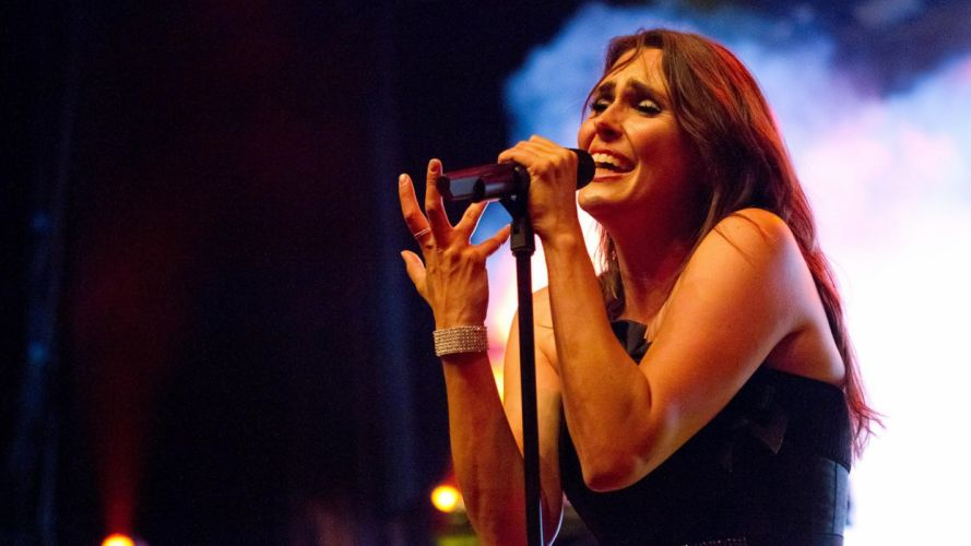 WITHIN TEMPTATION gothic metal symphonic sharon heavy adel microphone concert hr wallpaper