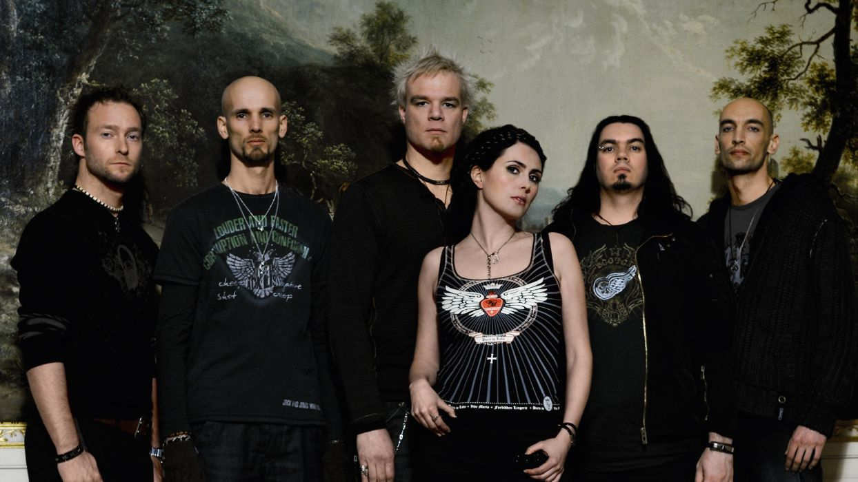 WITHIN TEMPTATION gothic metal symphonic sharon heavy wallpaper