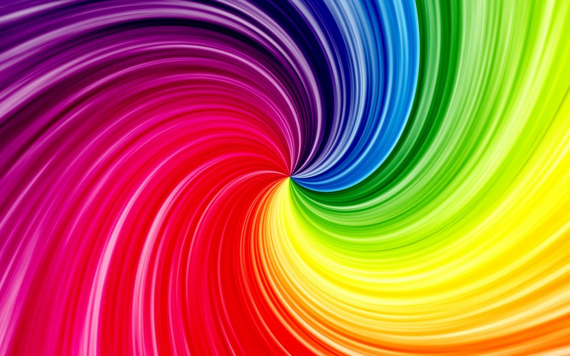 Bright colorful waves    f wallpaper