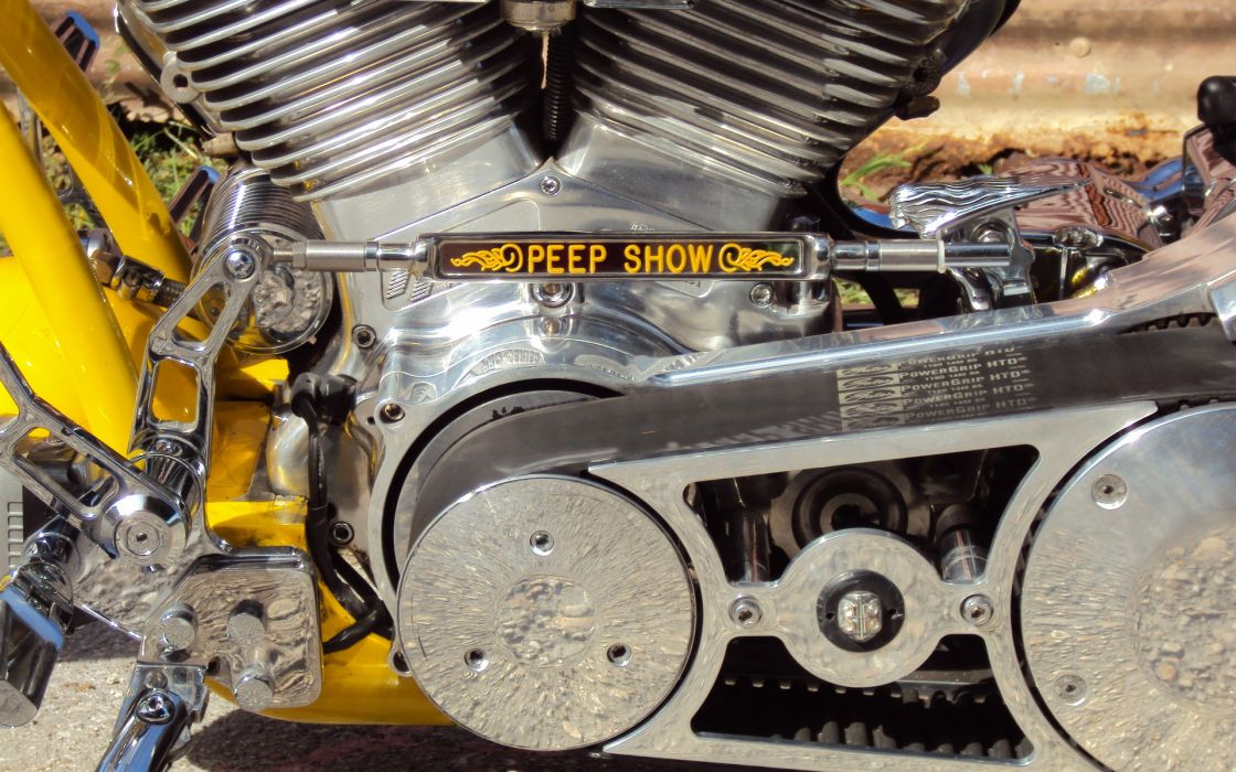 Custom Chopper Harley Davidson motorcycle engine engines  f wallpaper