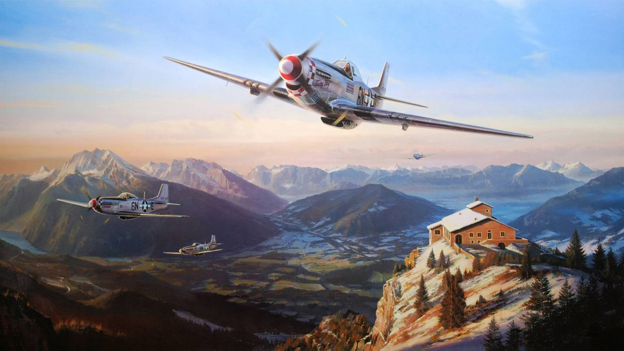 Nicolas Trudgian North American P-51 Mustang airplane plane military wallpaper