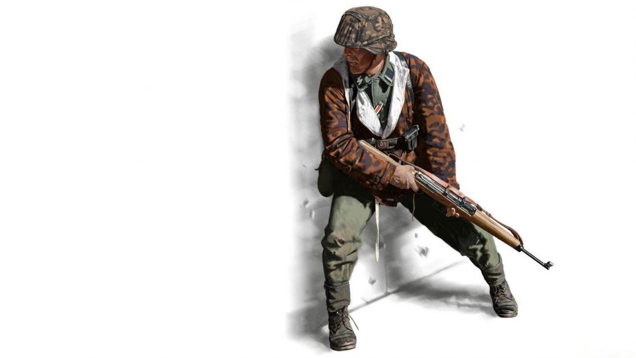 soldier shock troops sturmmann s-s waffen weapon military wallpaper