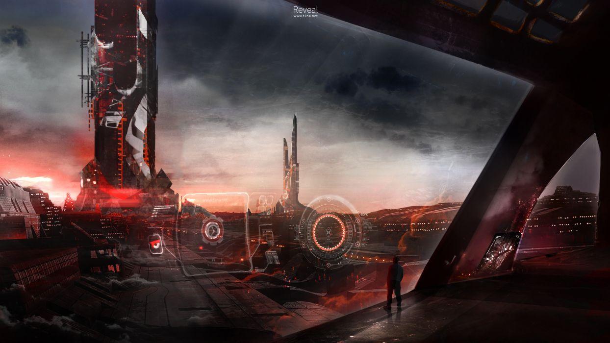city futuristic wallpaper