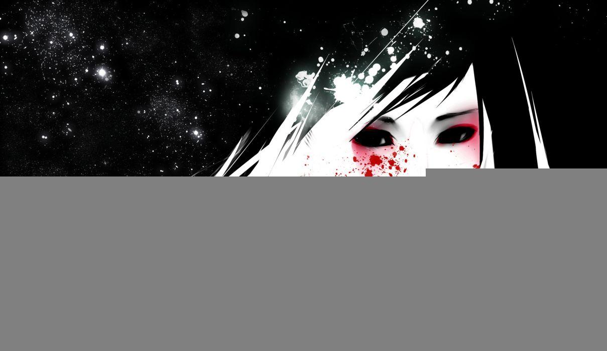 Face Blood Abstract original girl wallpaper