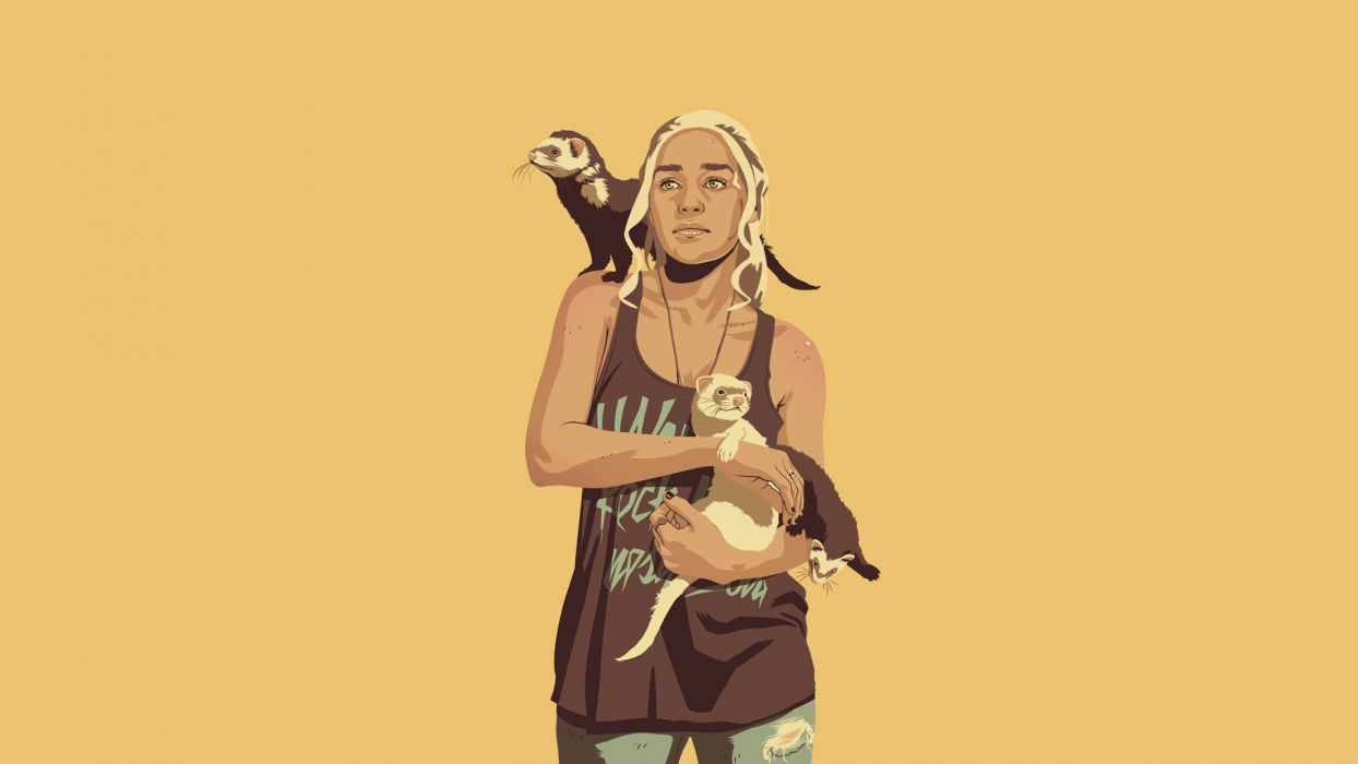 Game of Thrones Daenerys Targaryen Ferret wallpaper
