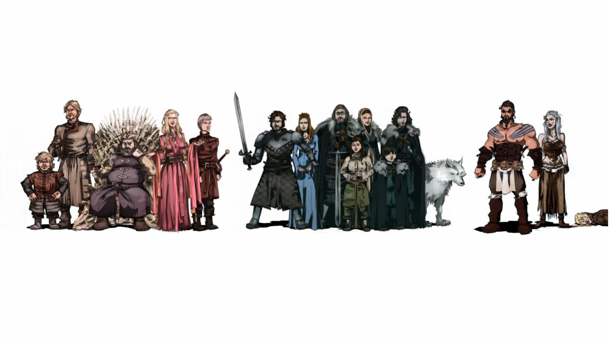 Game of Thrones White Drawing wallpaper
