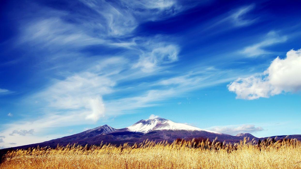 sky landscape mountains wallpaper