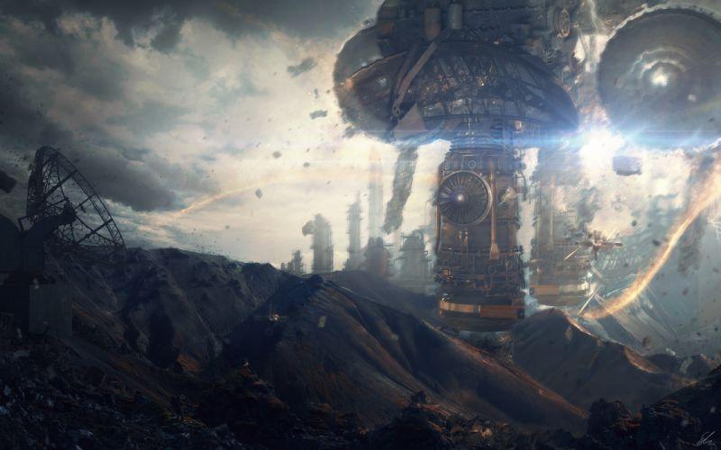 killzone sci-fi city wallpaper