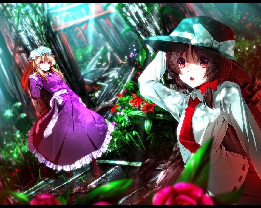 touhou flowers forest maribel han ryosios touhou usami renko wallpaper