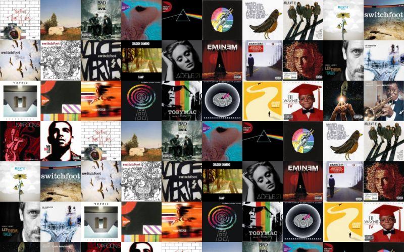 collage tile tiles music tv wallpaper