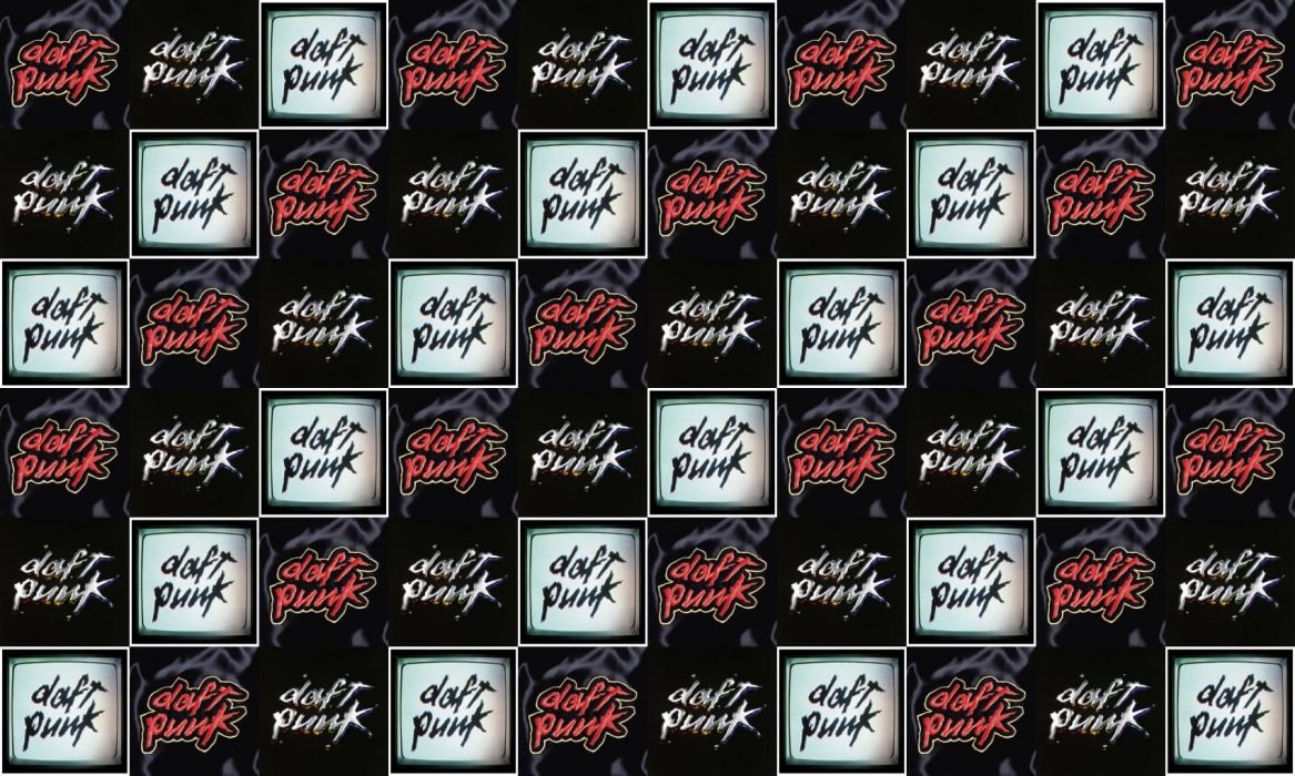 collage tile tiles music daft punk wallpaper