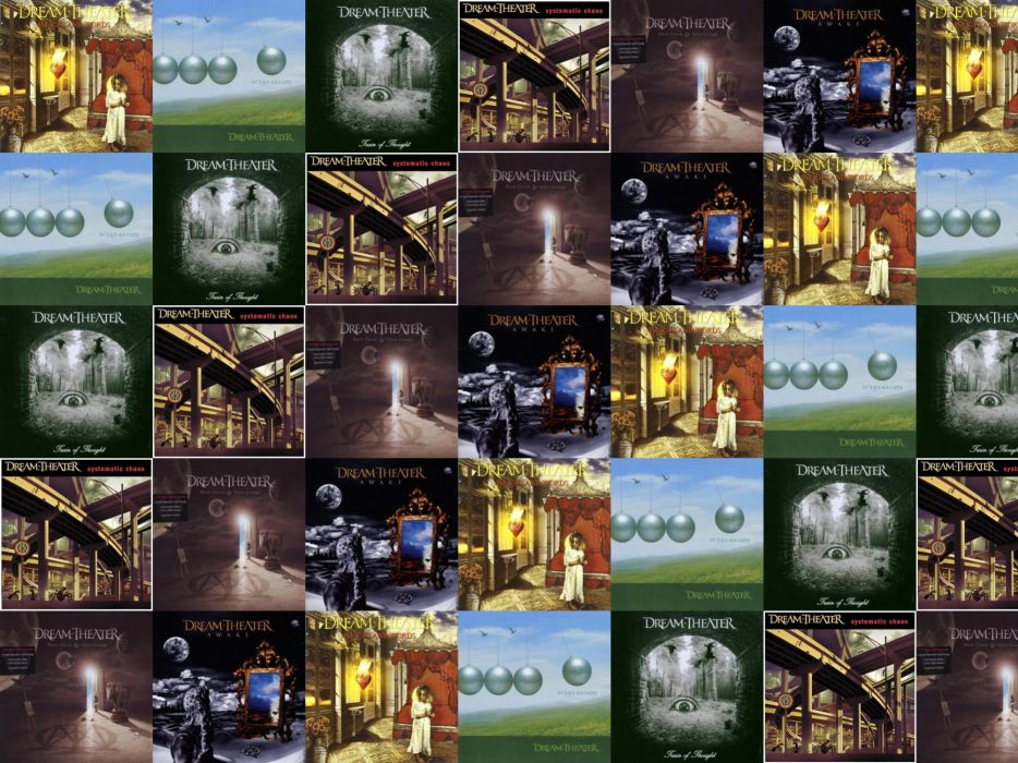 collage tile tiles music dream theater heavy metal wallpaper