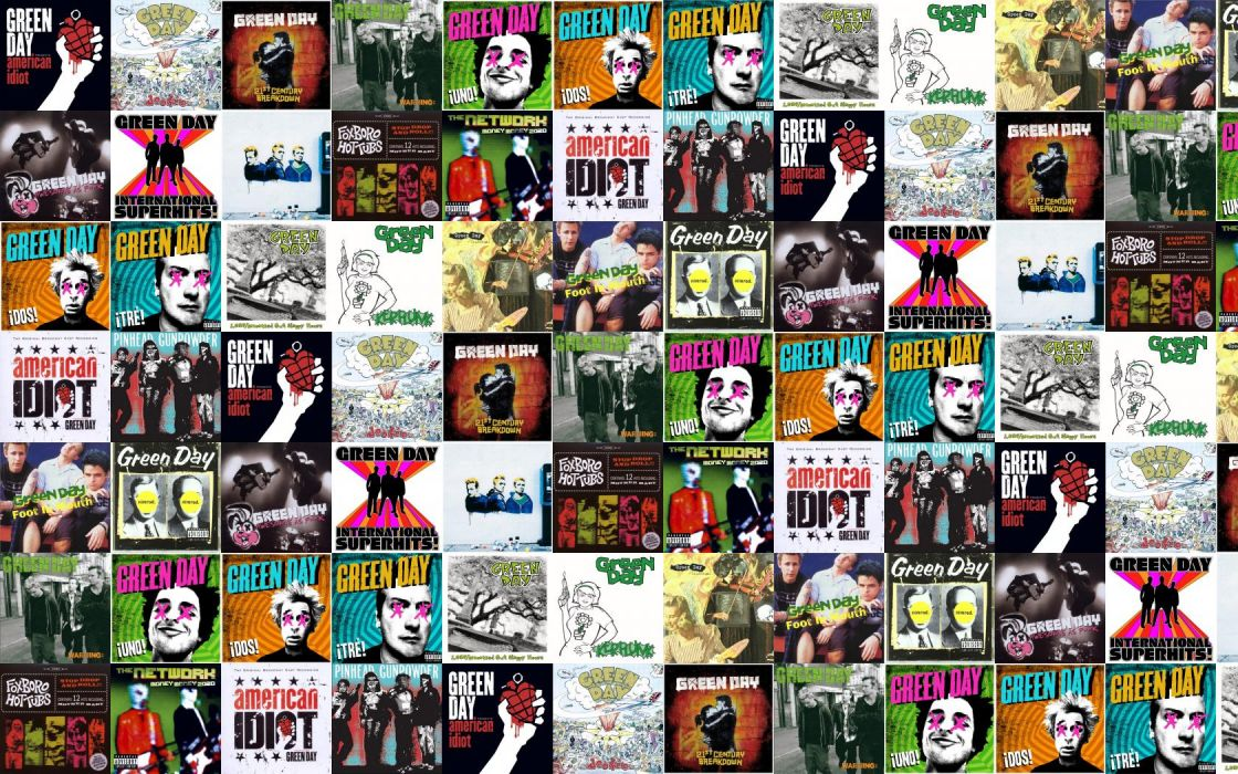 collage tile tiles music green day punk pop-punk wallpaper