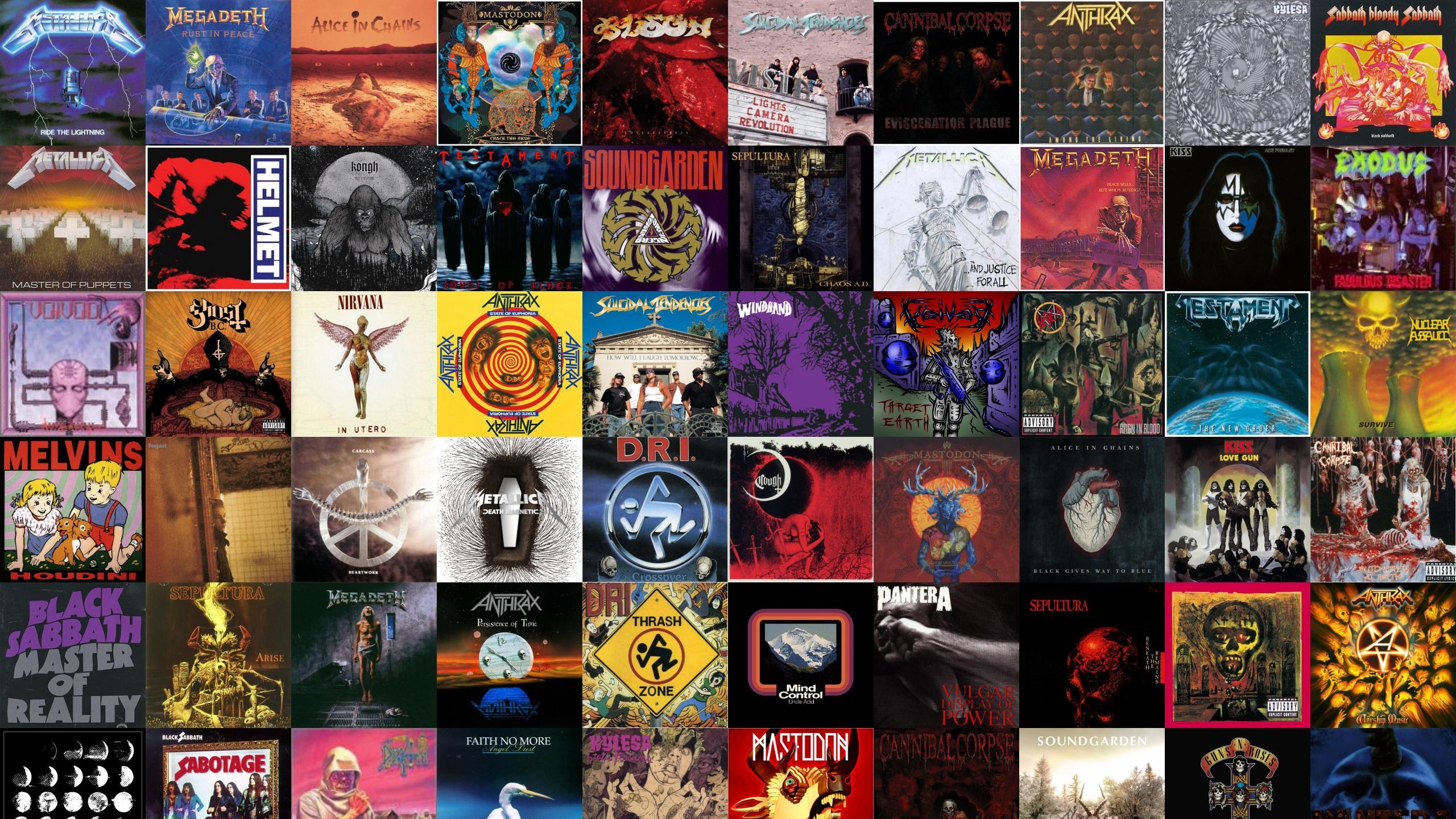 Collage Tile Tiles Music Heavy Metal R Wallpaper 2560x1440 101178 Wallpaperup