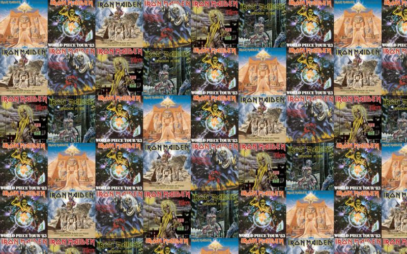 collage tile tiles music iron maiden heavy metal d wallpaper