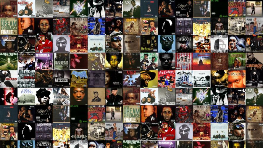 collage tile tiles music rap hip hop wallpaper