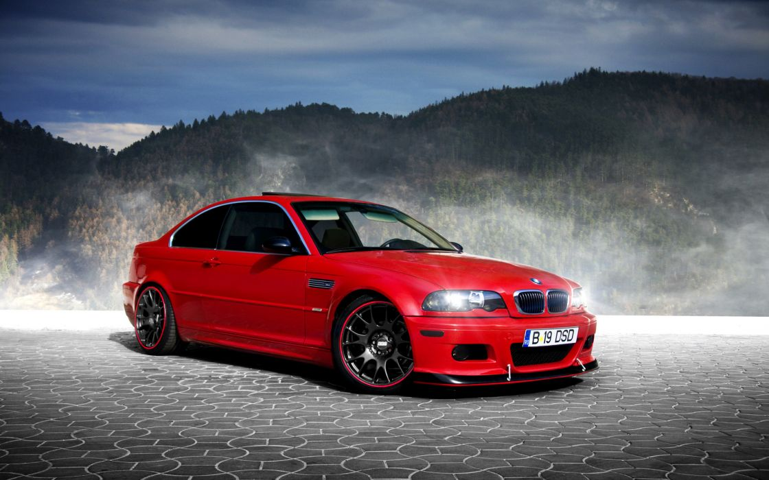BMW Red tuning wallpaper