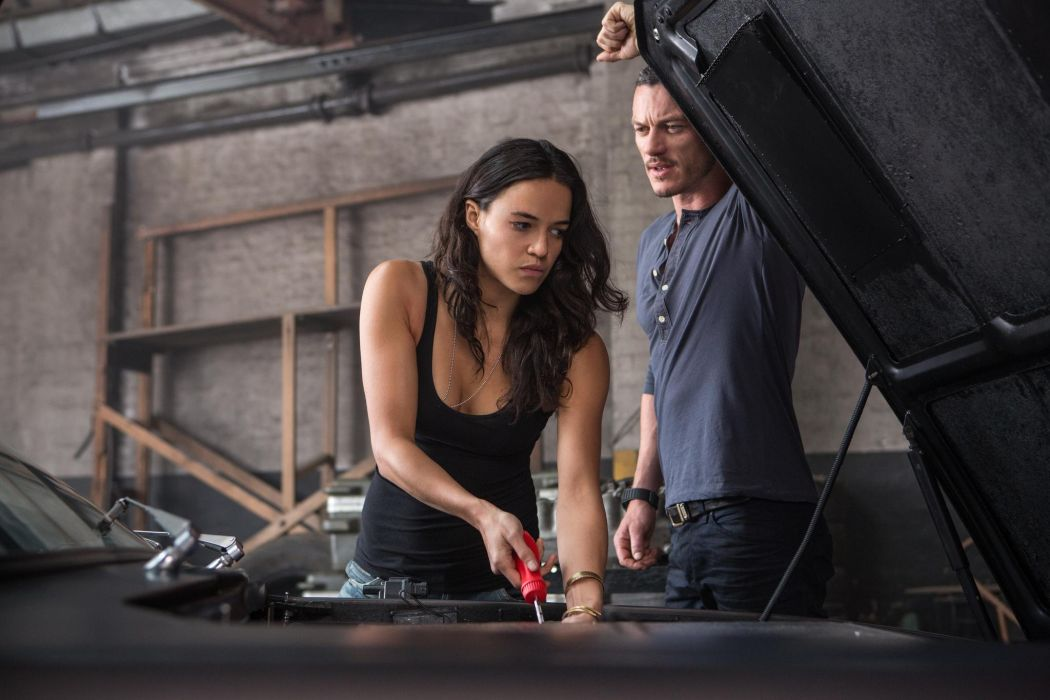 Michelle Rodriguez Luke Evans in Fast Furious 6 wallpaper