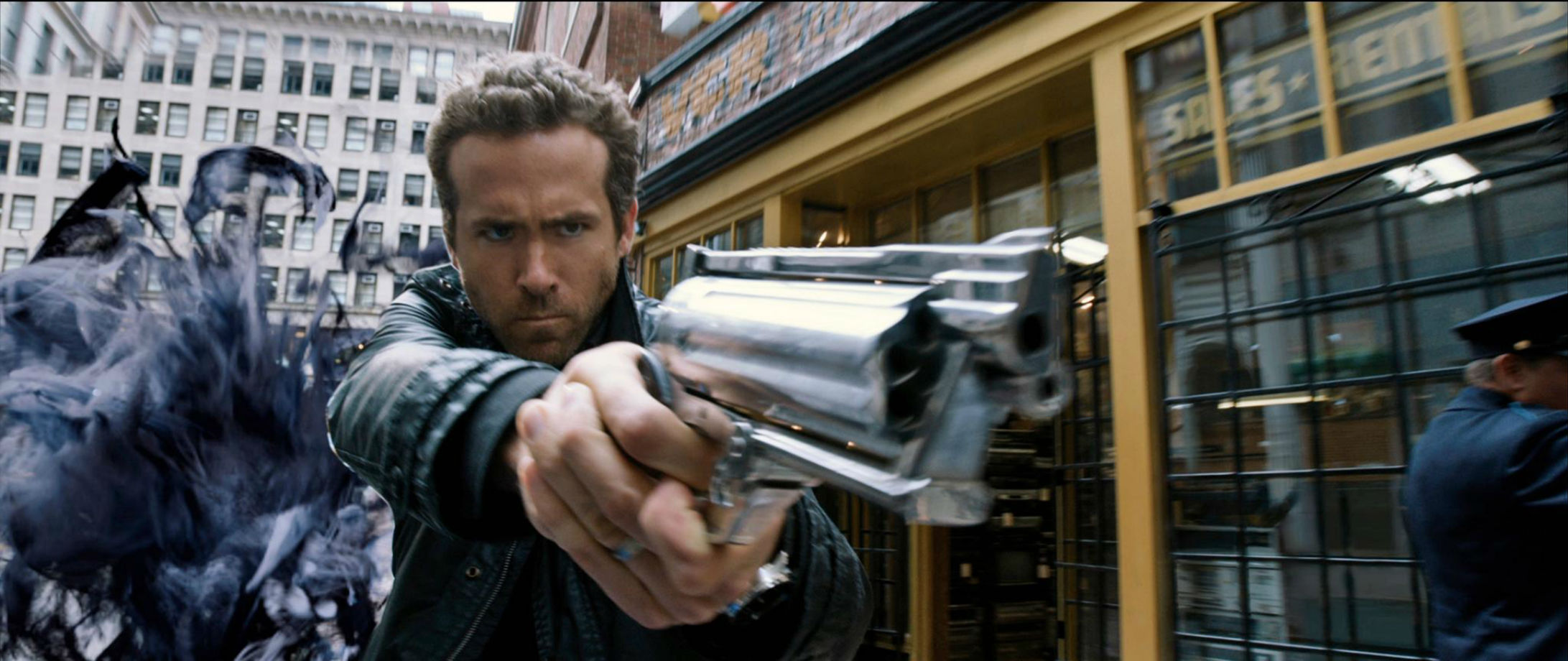 Ryan Reynolds RIPD weapons gun pistol wallpaper | 2183x920 ...