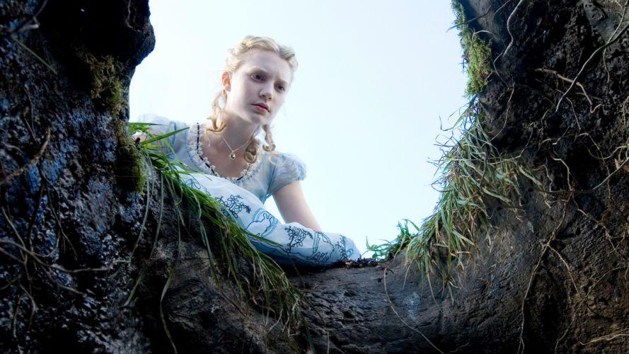ALICE IN WONDERLAND 2010 fairytale fantasy w wallpaper