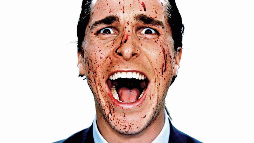 AMERICAN PSYCHO dark horror blood wallpaper