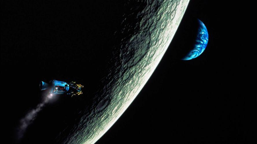 APOLLO 13 sci-fi nasa spaceship moon wallpaper