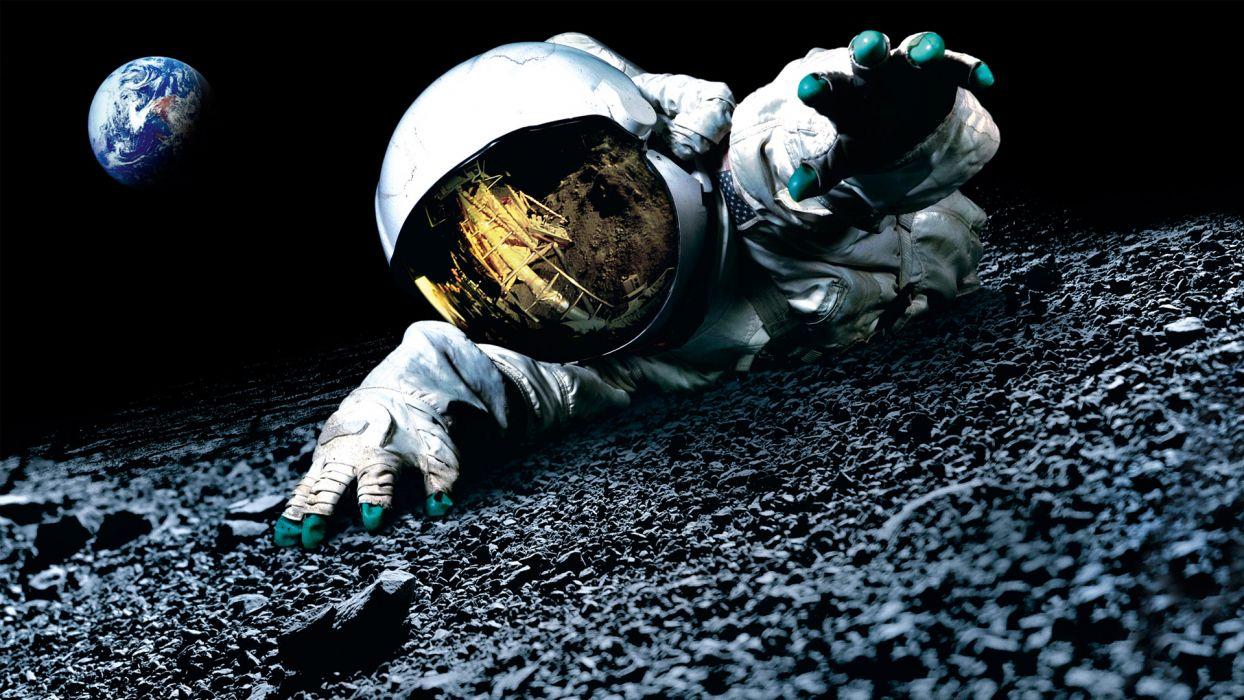 APOLLO 18 sci-fi astronaut dark   f wallpaper