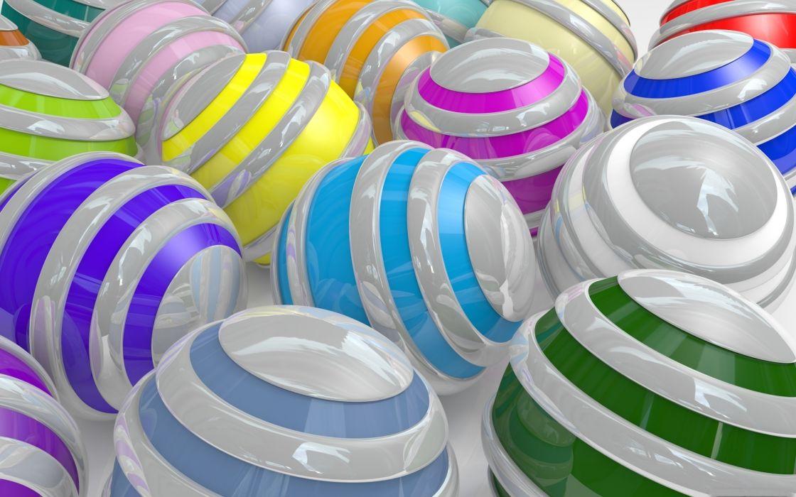 balls striped multi-colored wallpaper