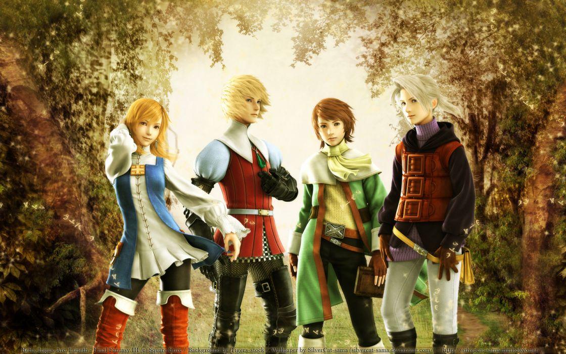 Final Fantasy III Ingus Arc Refia wallpaper