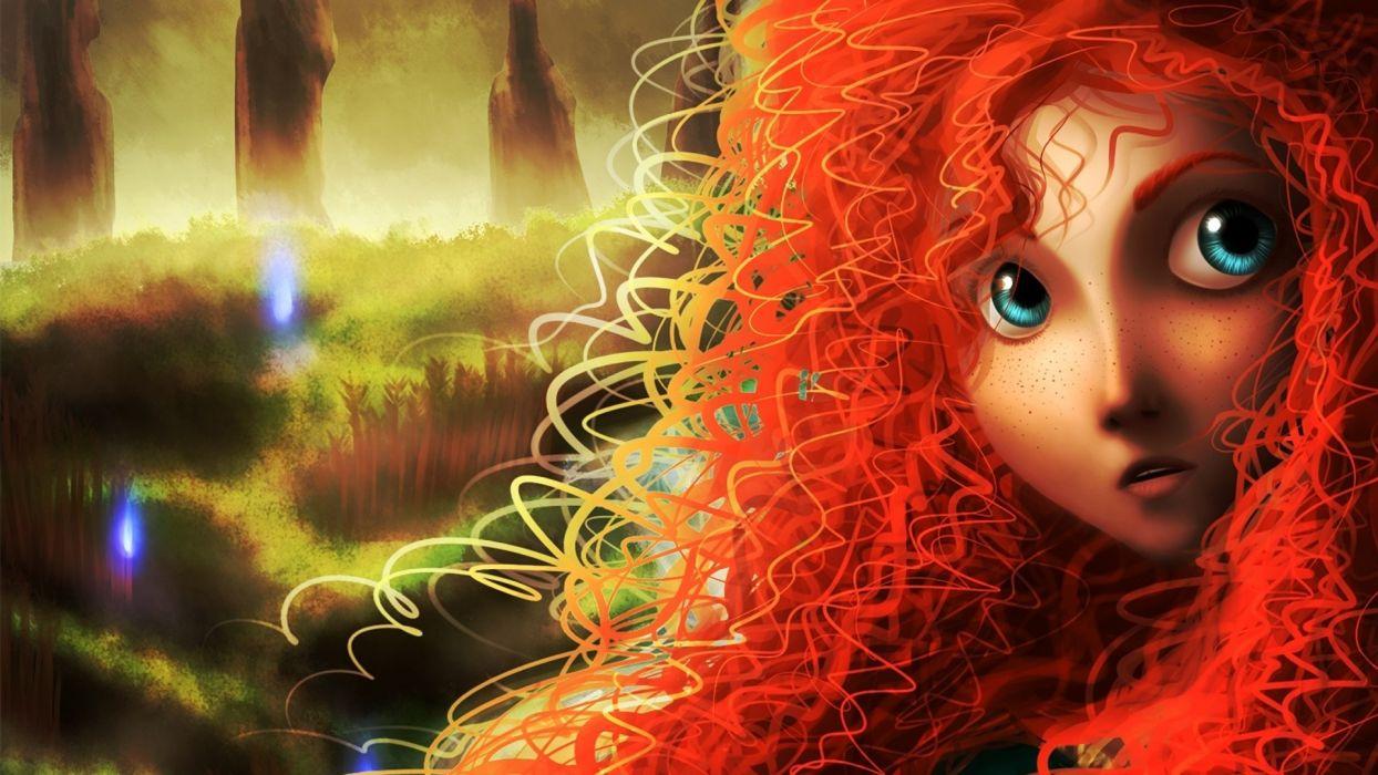 Brave princess merida     fg wallpaper