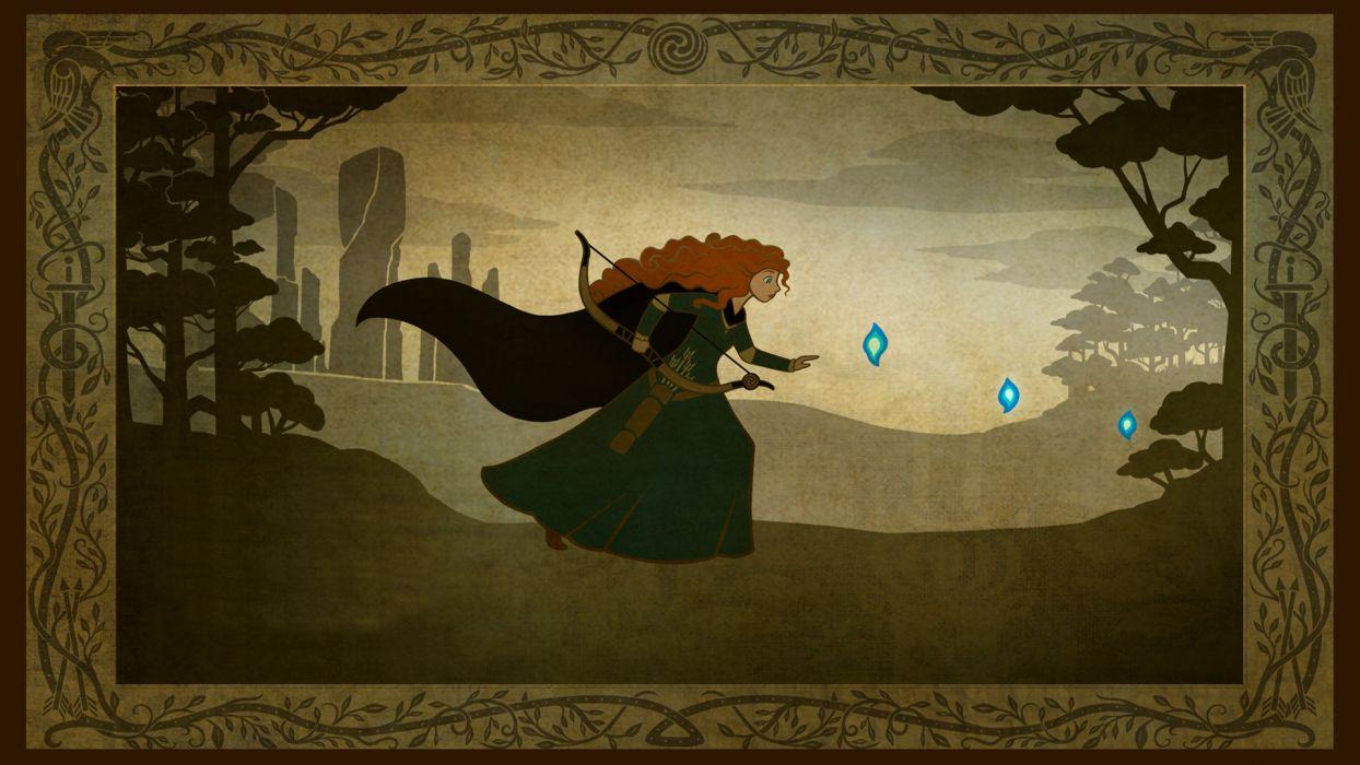 Brave princess merida   b wallpaper