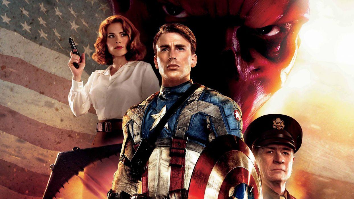CAPTAIN AMERICA THE FIRST AVENGER superhero  d wallpaper