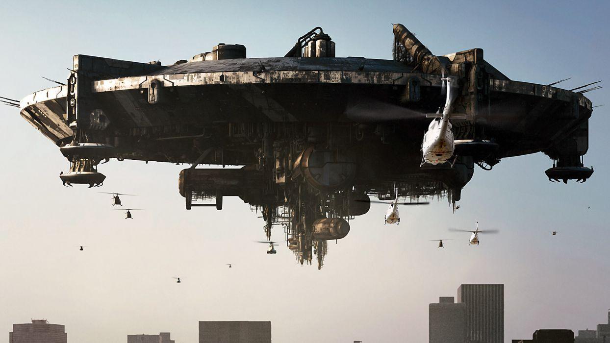 DISTRICT 9 sci-fi alien spaceship wallpaper