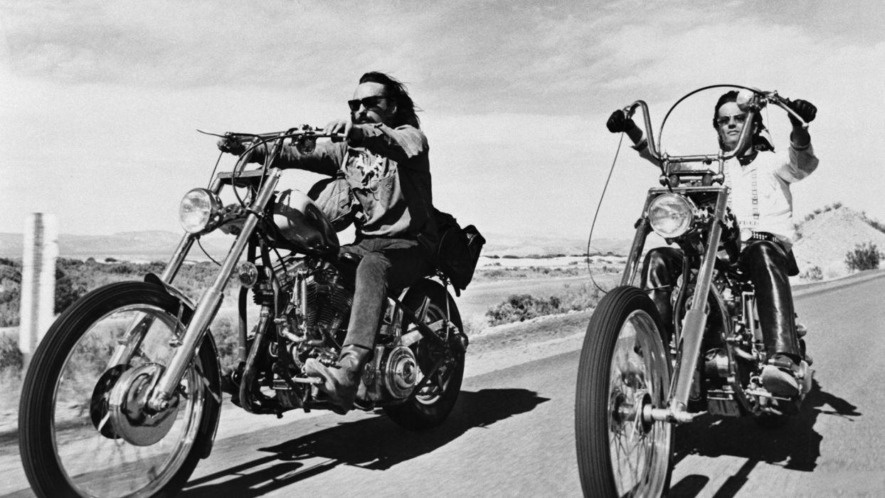 Easy Rider biker chopper cruise roads wallpaper