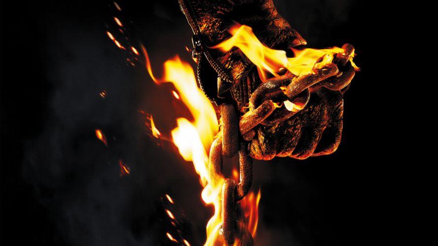 GHOST RIDER SPIRIT OF VENGEANCE dark fire chain wallpaper