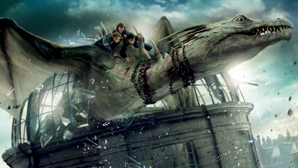 HARRY POTTER DEATHLY HALLOWS dragon dragons wallpaper