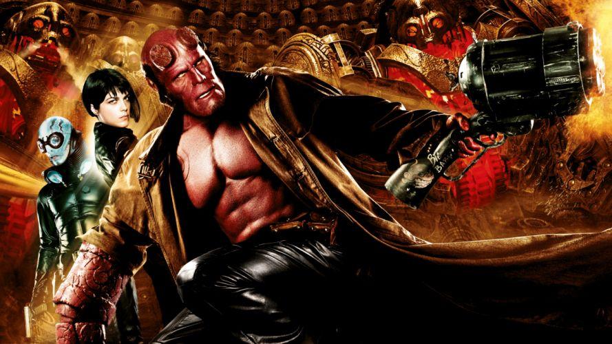 HELLBOY GOLDEN ARMY superhero antihero hero wallpaper