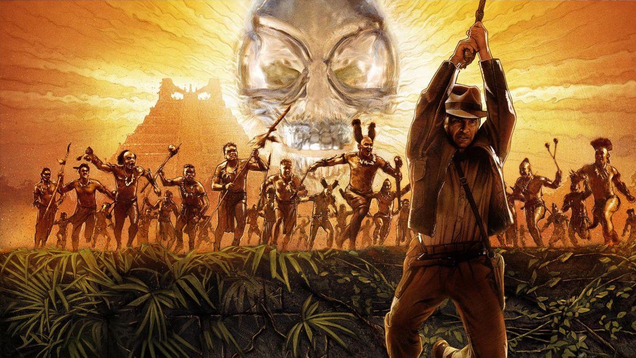 INDIANA JONES KINGDOM CRYSTAL SKULL f wallpaper