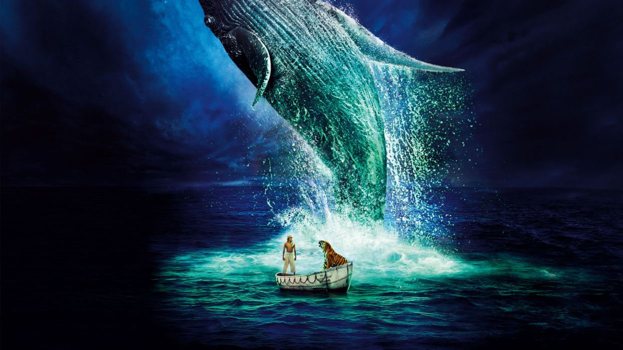 Life Of Pi Tiger Tigers Whale Whales Wallpaper 1920x1080