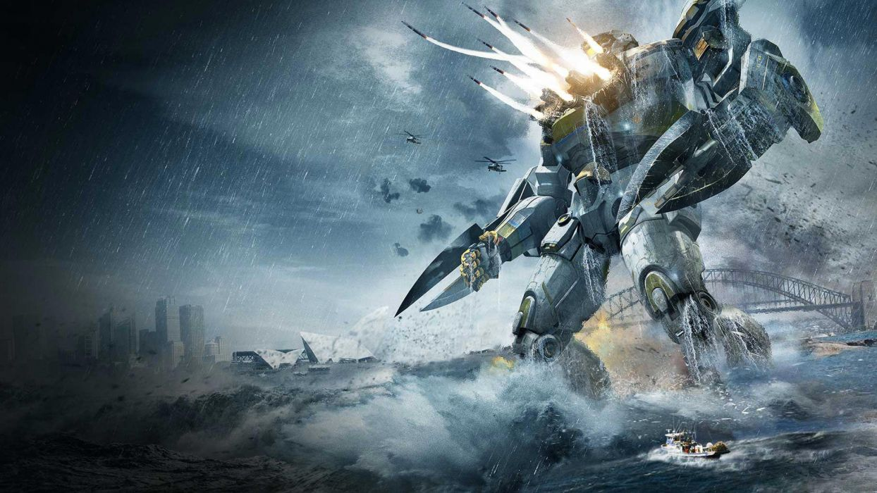 PACIFIC RIM sci fi robot futuristic mecha      gd wallpaper