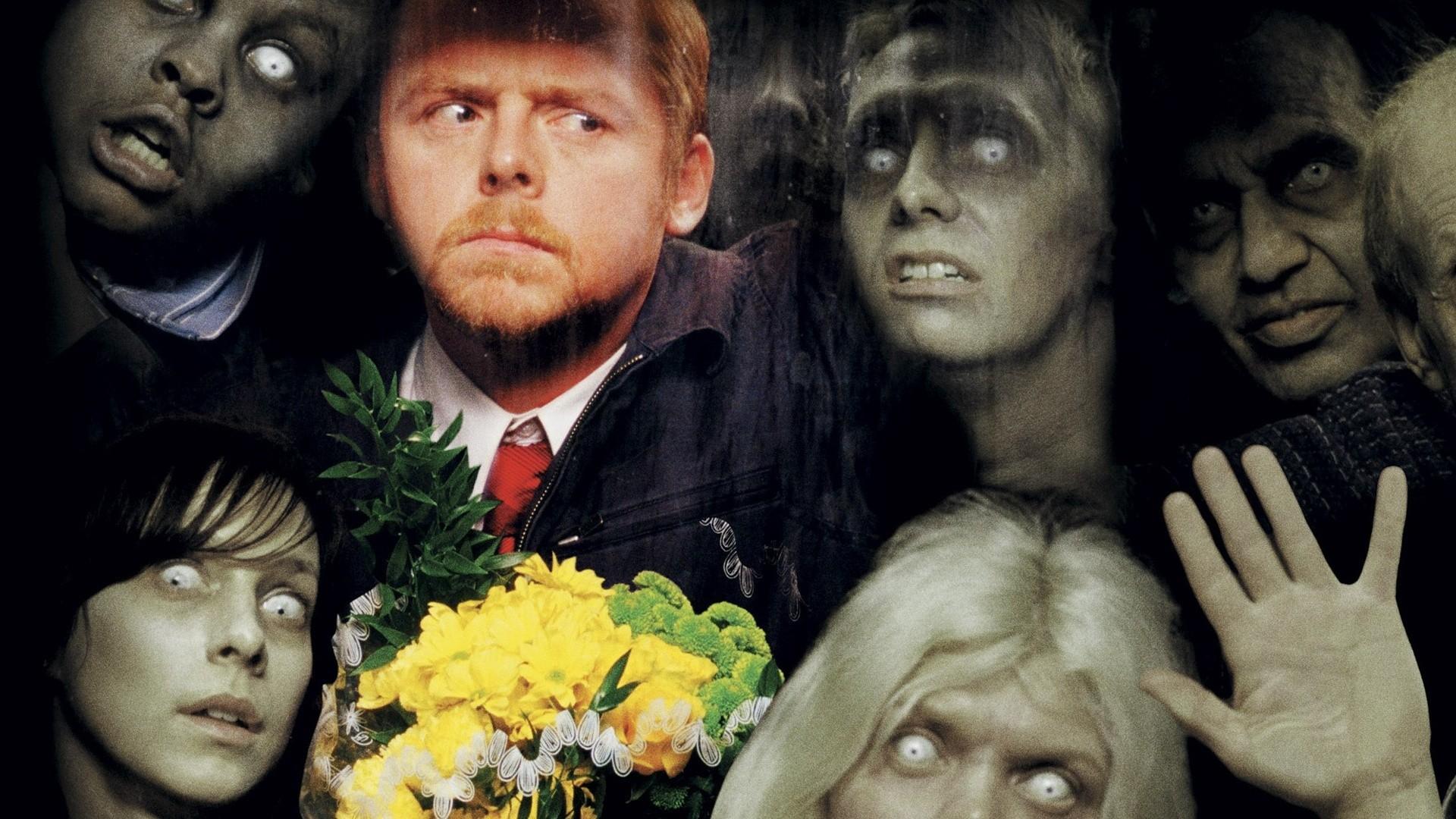 shaun of the dead dark horror zombie f wallpaper