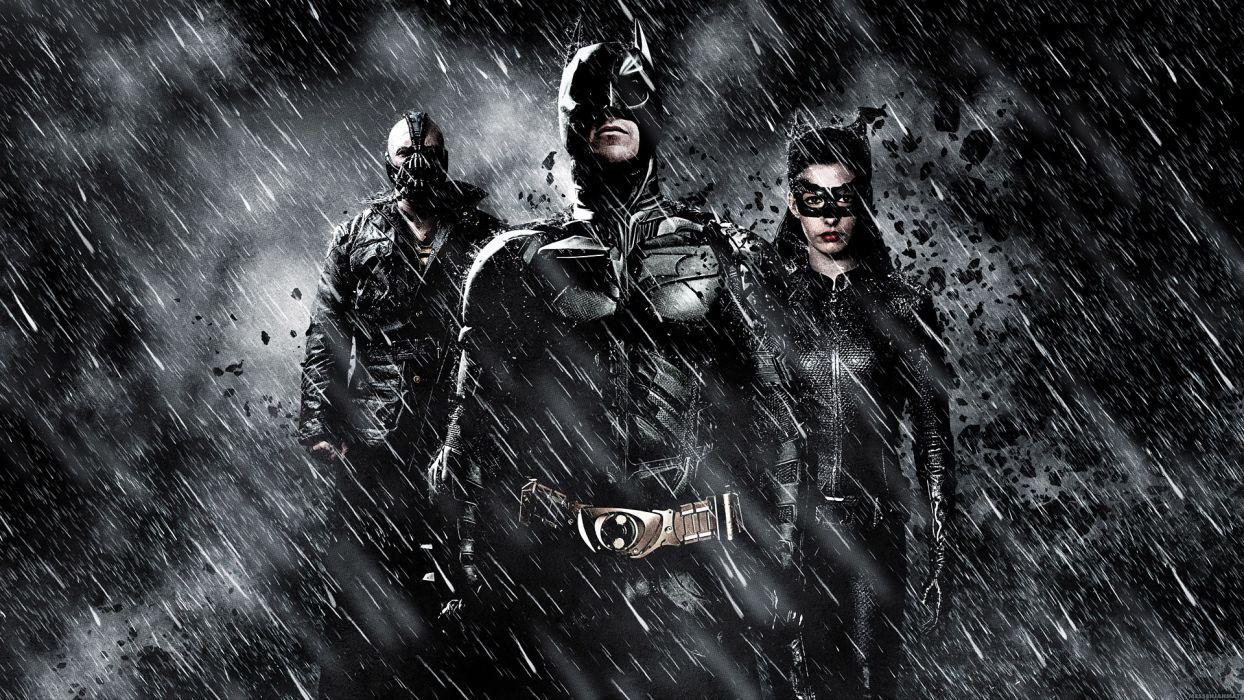 DARK KNIGHT RISES batman superhero bane catwoman wallpaper