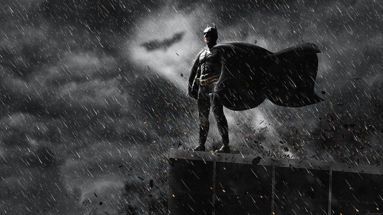 DARK KNIGHT RISES batman superhero rain wallpaper