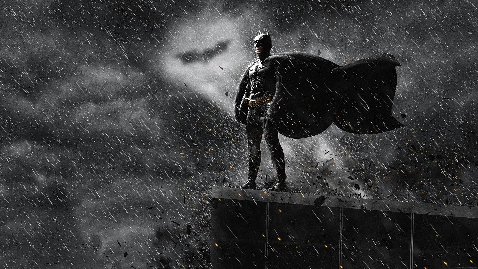 DARK KNIGHT RISES Batman Superhero Rain Wallpaper