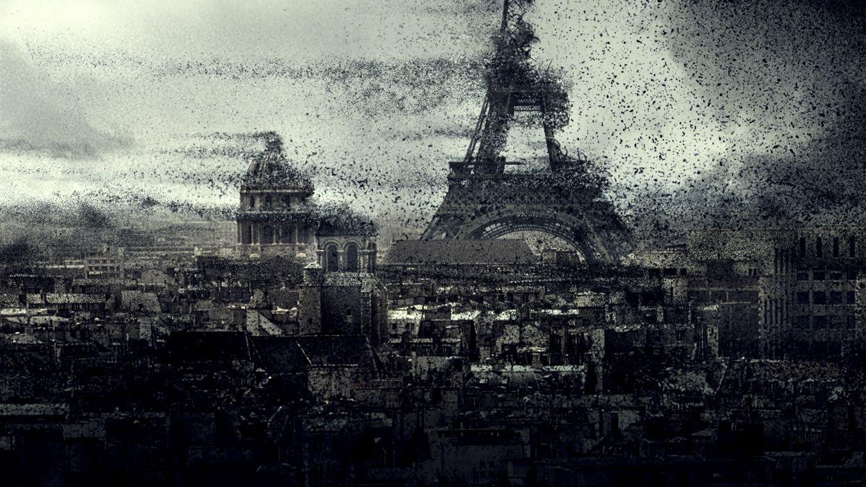 DAY THE EARTH STOOD STILL sci-fi apocalyptic city destruction horror dark     fs wallpaper